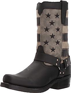 حذاء برباط أسود اللون بنمط علم باهت من دورانجو