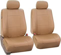 FH-PU001102 PU Leather Car Front Bucket Seat Covers Solid Tan color
