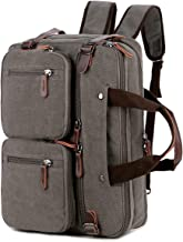 BAOSHA Convertible Briefcase Backpack 17 Inch Laptop Bag Case Business Briefcase HB-22 (Grey)