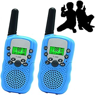 JRD&BS WINL QWE0132 Handheld, T388 Walkie Talkies for Kids Gifts 22 Channel Two Way Radios Long Range for 4-16 Year Old Boys Girls Presents,1Pair(Blue)