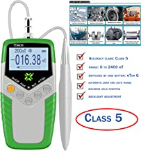 VTSYIQI Gauss Meter Tesla Meter High Precision Gaussmeter Fluxmeter Surface Magnetic Field Tester with 5% Accuracy Probe 0 to 2400mT