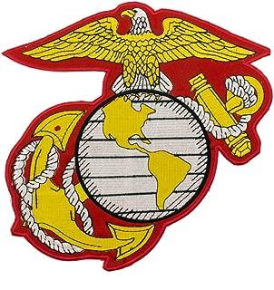 US Marine Corps Embroidered Large Insignia Patch USMC Military Eagle Anchor Globe Logo Iron-On