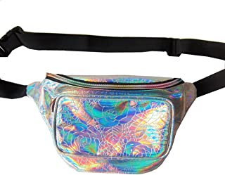 Andear Shiny Holographic Bumbag Waterproof Fanny Pack Sports Hiking Running Waist Bag Laser Hip Pack