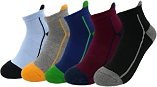 Nanxson Men/Teenagers Cotton Knitted Socks Casual Midi Tube Crew Socks 5 Pack WZMA0013