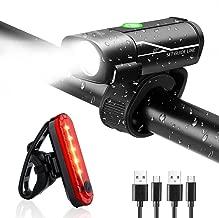 AMANKA LED Fahrradlicht Set USB Wiederaufladbar Fahrradbeleuchtung Set