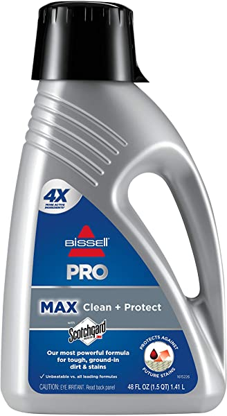 Bissell 78H63 Deep Clean Pro 2X Deep Cleaning Concentrated Carpet Shampoo 48 Ounces Silver