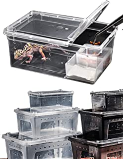 DREAMER.U Portable Reptile Terrarium Habitat Reptile Hatching Container for Tarantulas, Geckos, Crickets, Snails, Hermit Crabs, Frogs, Lizards, Baby Tortoise and Snakes