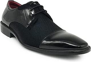 Leon Men's Colonial Spectator Two Tone Cap Toe Oxfords Lace Up Dress Shoes