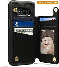 Spaysi Samsung Galaxy S8 Card Holder Case, Galaxy 8 Wallet Case (TM) Slim, Galaxy S8 Folio Leather case 2017, Gift Box, for Galaxy S8 (Black)