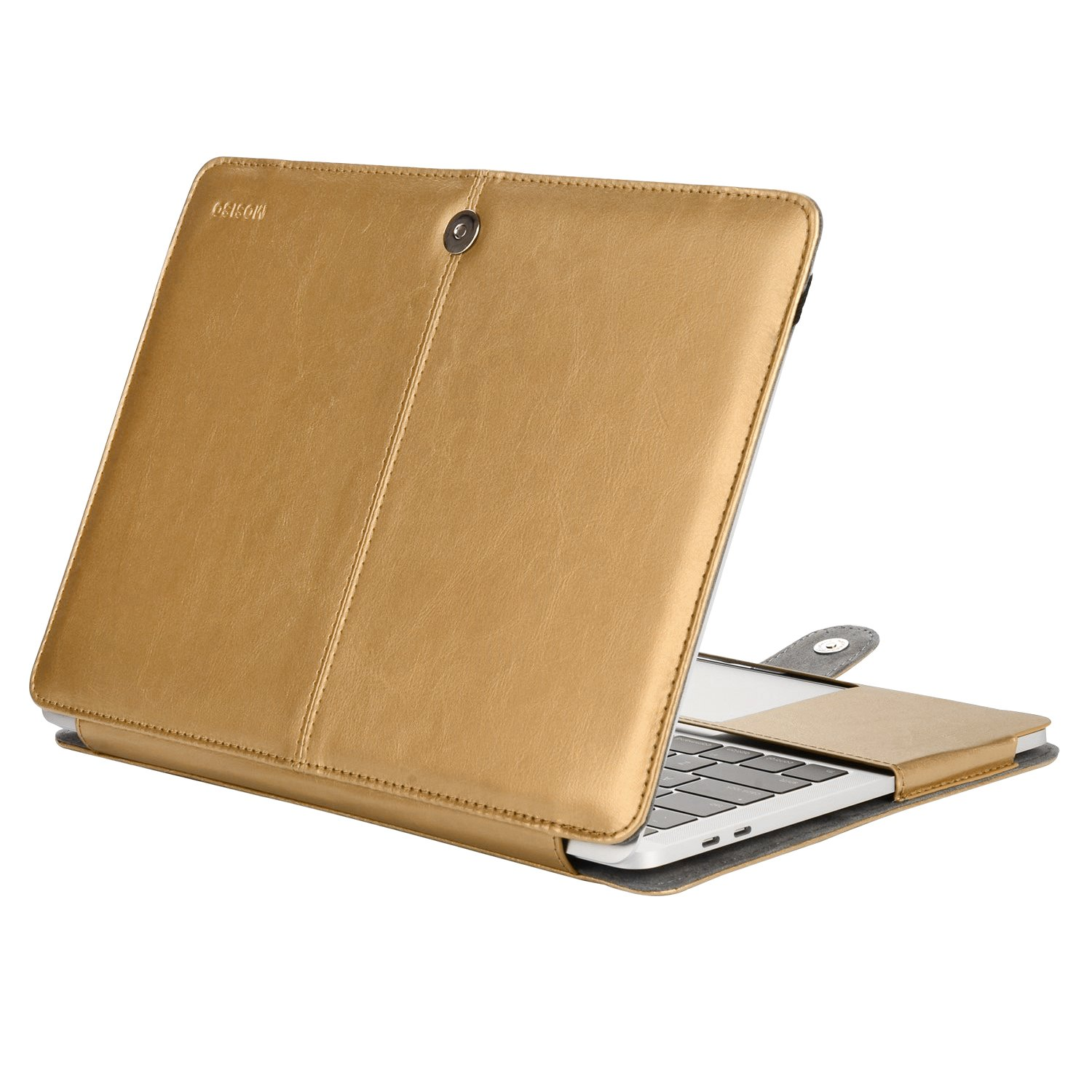 Amazon Com Mosiso Macbook Pro 15 Inch Case A1990 A1707 2019 2016 Release Pu Leather Book Folio Protective Stand Cover Sleeve With Black Strip Compatible With Macbook Pro 15 Inch With Touch Bar Gold Electronics
