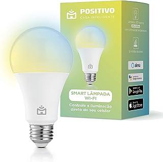Smart Lâmpada Wi-Fi Positivo Casa Inteligente, branco quente e frio, RGB, LED 9W, Bivolt - Compatível com Alexa