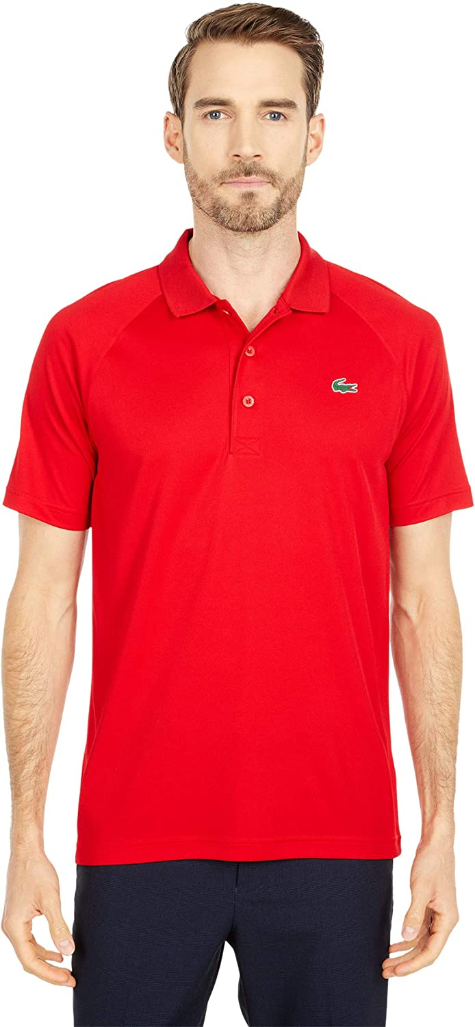 Large special price !! Lacoste Men's Sport Short Complete Free Shipping Ultra Sleeve Dry Shirt Polo Raglan