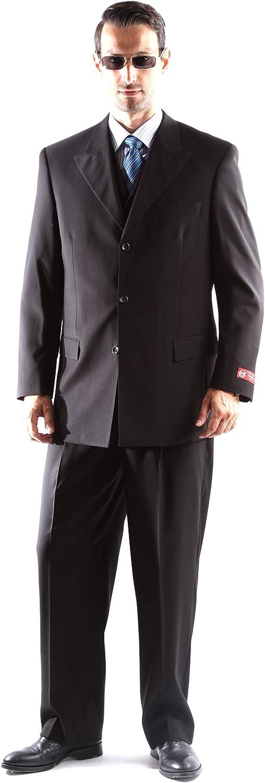 Men's Superior 150s Extra Fine 3 pcs Vested Dress Suit