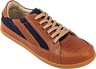tZaro Genuine Leather Tan Color Casual Shoes - RODEN411TAN