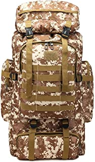 Ferdous Large Capacity 80L Backpack Camouflage Waterproof, Impermeable, Wear-Resistant and Tear Resistant Outdoor Travel M...