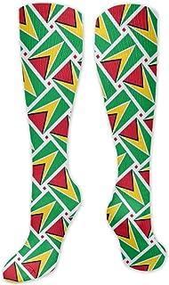 MISS-YAN, Calcetines para hombre y mujer, diseño de bandera de Guyana