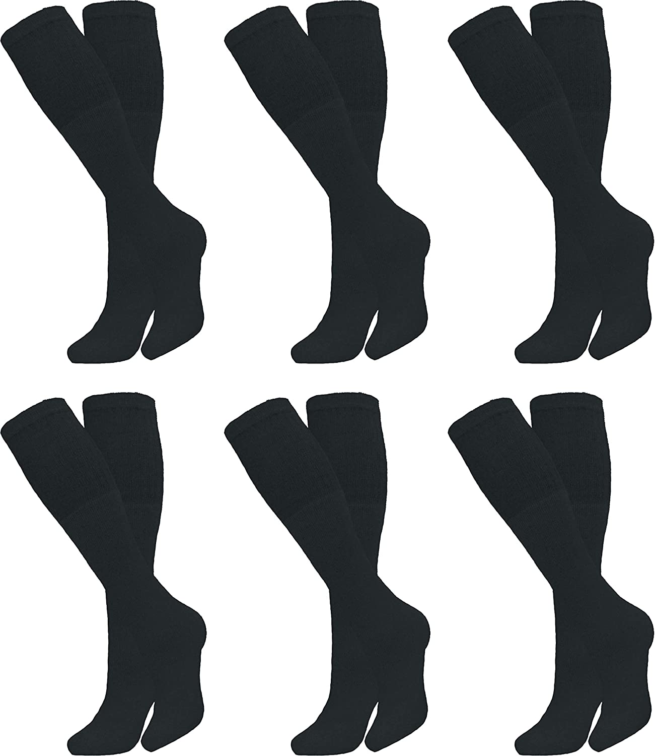 Diamond Star Men's 6 Pack Athletic Tube Socks Running Sports OVER THE CALF Full Cushioned Premium Soft Cotton Big and Tall