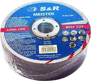 S&R 25 Discos de corte 125 Metal y Acero INOX .Set de 25