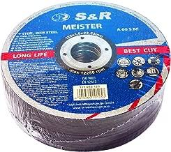 S&R Trennscheibe für Metall, Stahl, Edelstahl/INOX 125x1,0x22,23mm A60 S-BF. Set 25 Stück, für Winkelschleifer