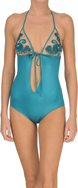 TwinSet Women's MCGLCST000005028E Light bluee Polyamide OnePiece Suit