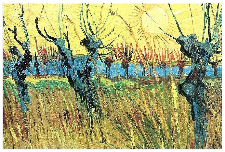 ArtPlaza TW91076 Van Gogh Vincent - Grazing at Sunset Decorative Panel 39.5x27.5 Inch Multicolored