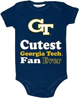 Two Feet Ahead NCAA Georgia Tech Children Girls Pin Dot Tutu Creeper,18 mo,Navy