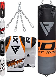 RDX Punch Bag for Boxing Training   Filled Heavy Bag Set with Punching Gloves and Hanging Chain   Great for Grappling, MMA, Kickboxing, Muay Thai, Karate, BJJ and Taekwondo   Available in 4FT/5FT