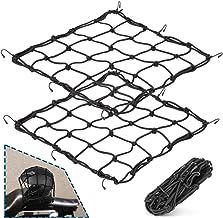 "Zoe sunny 2Pack 15.7""x15.7"" Cargo Net, Heavy Duty Bungee Net Stretches to 31.5""x31.5"", Gear Helmet Luggage Thicken Netting..."
