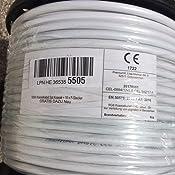 PremiumX - 100m cable coaxial SAT cable de antena cable coaxial 130dB, 4 veces blindado para sistemas DVB-S / S2 DVB-C y DVB-T BK + 10 conectores F ...
