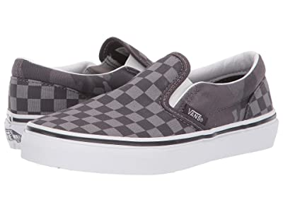 Vans Kids Classic Slip-On (Little Kid/Big Kid) ((Tonal Checkerboard) Obsidian/Camo) Boys Shoes