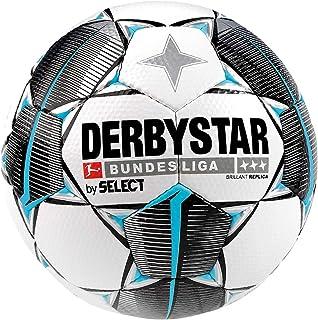 Derbystar Bundesliga Replika Fotboll Boll, Vit/Svart/Grå, Storlek 5