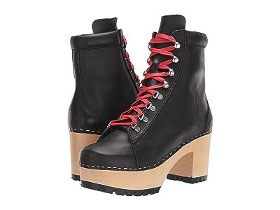Swedish Hasbeens Hiking Boot (Black) Women