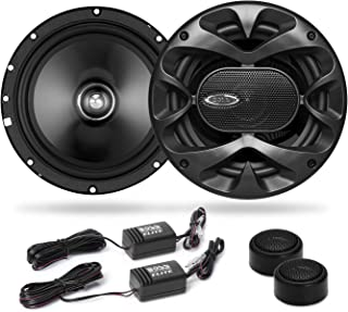 BOSS Audio Systems Elite BCK65 Component Car Speaker System - 2 6.5 Inch Speakers, 2 Tweeters, 2 Crossovers, 350 Watts Max...