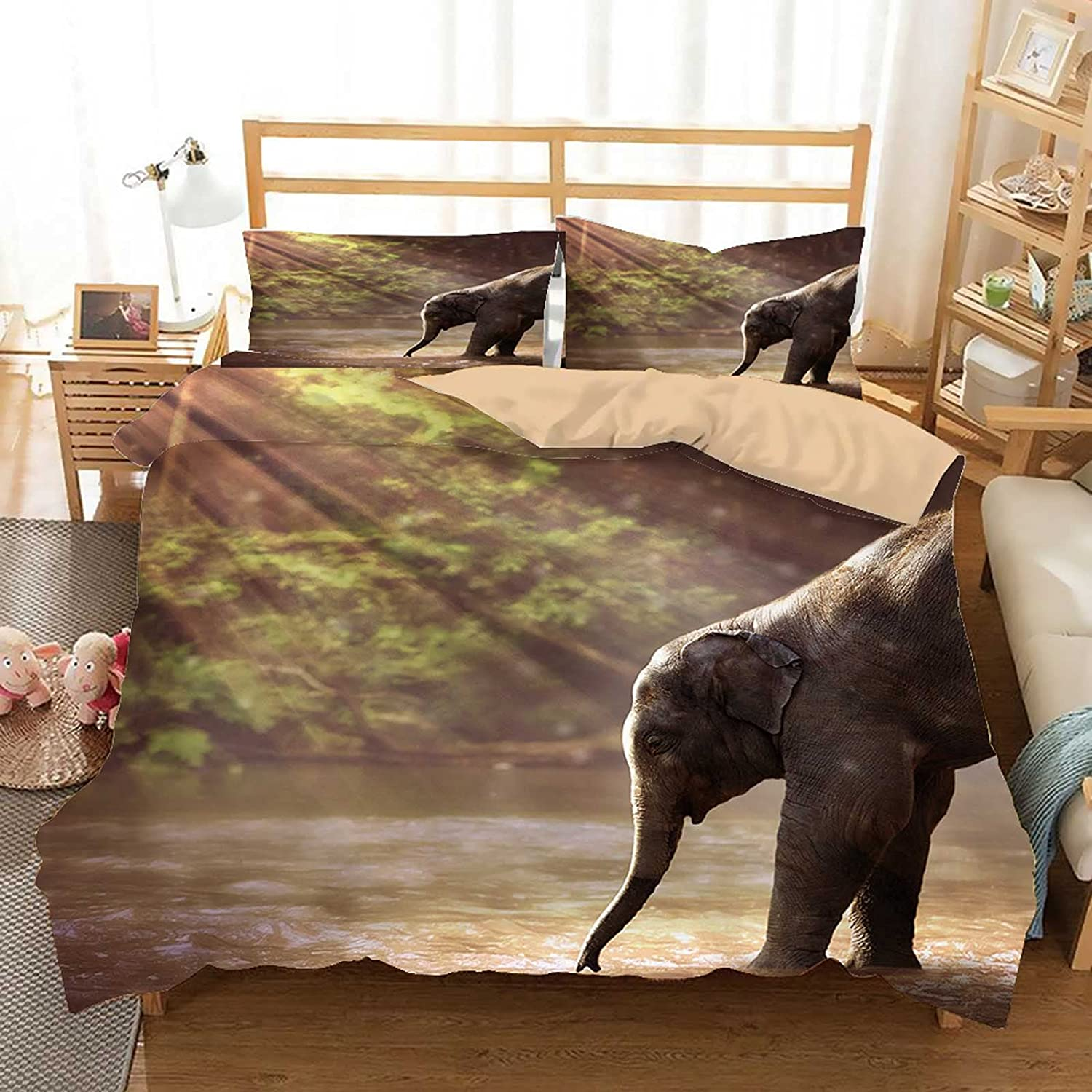 Max Fees free!! 40% OFF Elephant Young Watering Hole Animal L Set Bedding