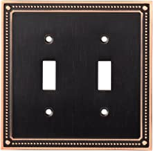 Franklin Brass W35061-VBC-C Classic Beaded Double Toggle Switch Wall Plate / Switch Plate / Cover, Bronze with Copper Highlights