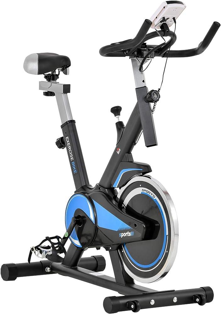 Homcom cyclette spinning professionale,  schermo lcd ITA90-241BU0631