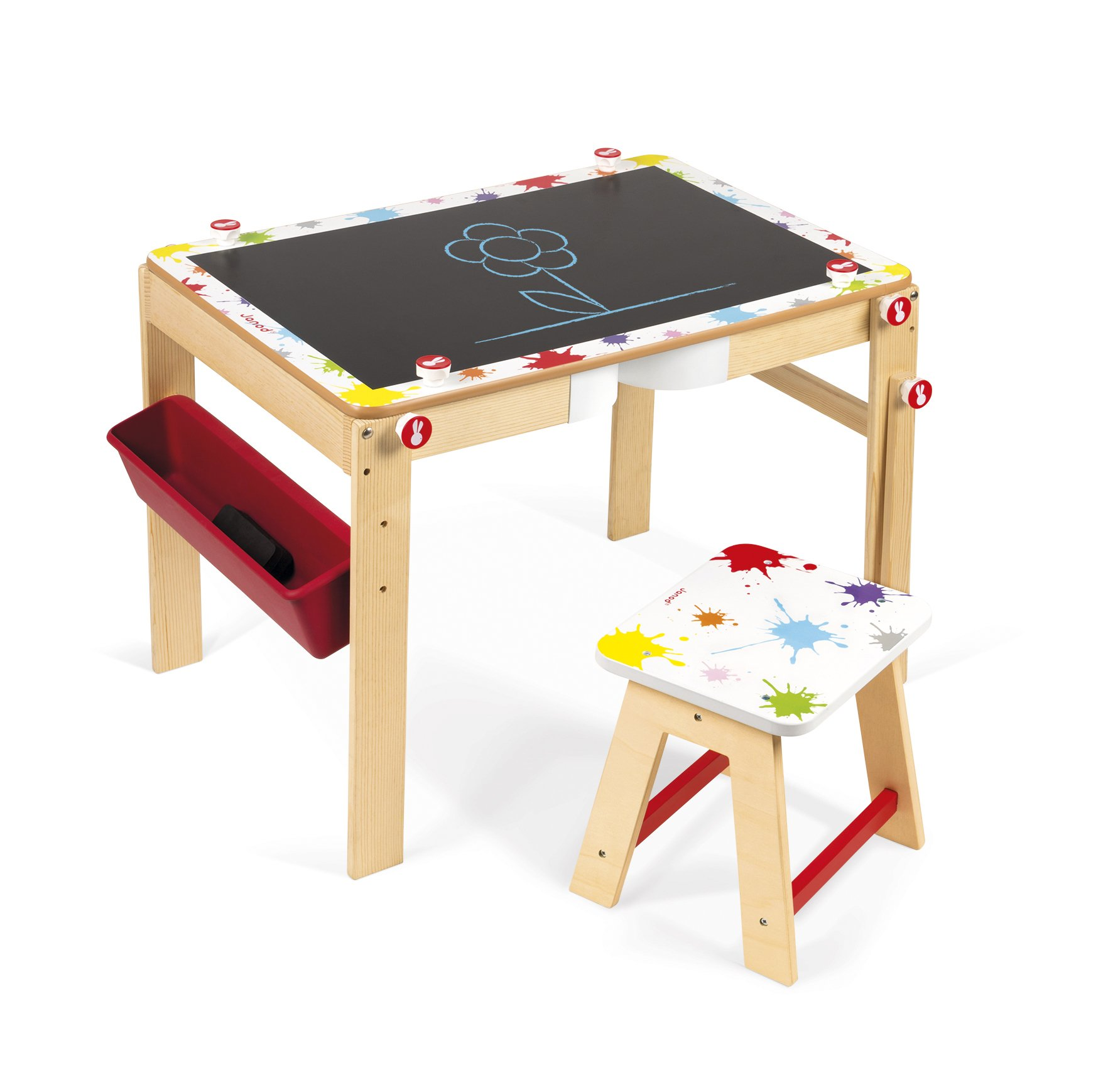 Janod- Escritorio modulable 2 en 1 Splash (J09609): Amazon.es: Juguetes y juegos