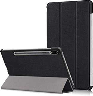 JAMIE Case for Galaxy Tab S7 Plus 12.4 2020, Anti-Scratch Tri-Fold Stand Slim Case with Auto Sleep/Wake Up for Tab S7+/S7 ...