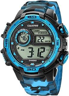 Calypso Reloj Digital para Hombre de Cuarzo con Correa en Pl