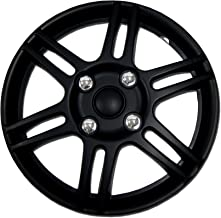 TuningPros WSC-004B14 Hubcaps Wheel Skin Cover 14-Inches Matte Black Set of 4