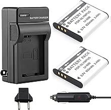 Venwo 2 Pack LI-50B Battery and Charger kit for Olympus SZ-15, SZ-16 iHS, XZ-1, Tough TG-620 iHS,TG-630 iHS, TG-820 iHS, TG-830 iHS, TG-850, TG-870, SP-800UZ, SP-810UZ, VR-340, VR-350, VR-370 Camera