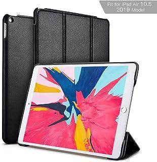 iPad Air 10.5 Case 2019, ICARER Vintage Series Genuine Leather Folio Flip Smart Cover with Auto Wake/Sleep Function [Magne...