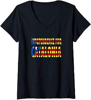Womens Estelada Blava Flag | Independence for Catalonia V-Neck T-Shirt
