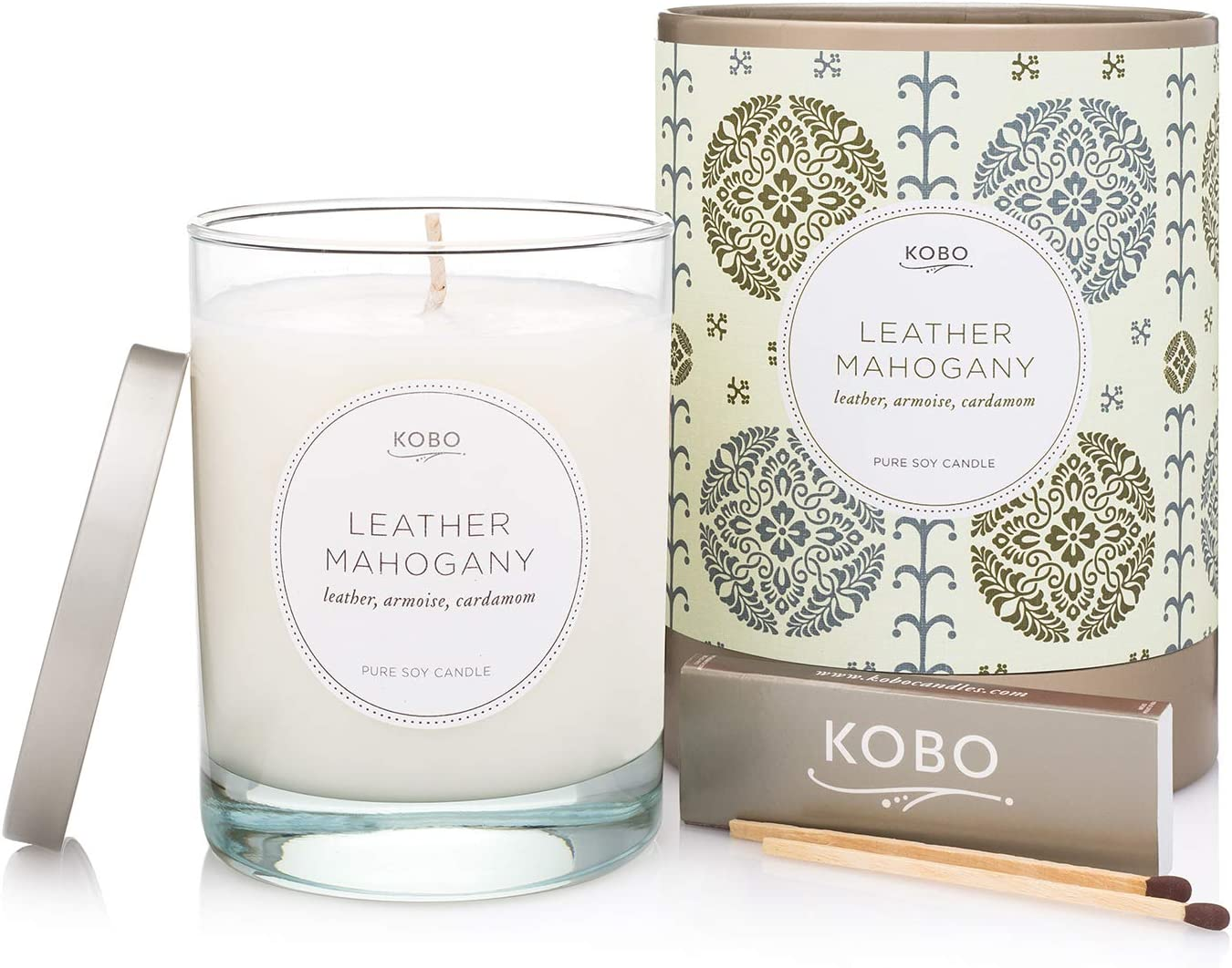 Kobo Candles Leather Mahogany Charlotte Mall Our shop most popular and Gute Wick Cutter 2 Bund Piece