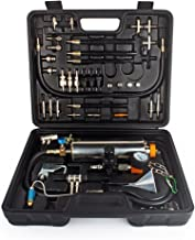 WISAMIC Automotive Non-dismantle Fuel Injector Cleaner Kit and Tester with Case for Petrol EFI Throttle Petrol Cars, 750ML Tank, 145PSI