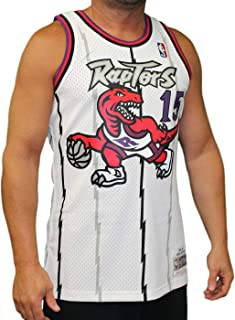 Vince Carter Toronto Raptors Mitchell and Ness Men's White Throwback Jesey