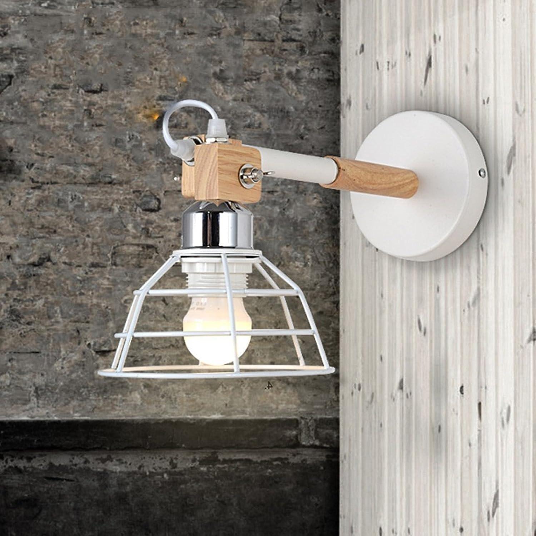 GYR American Countryside Bird Cage Creative Wall Light Bedroom Industrial Retro Aisle Corridor Creative Small Cage Wall Lamp