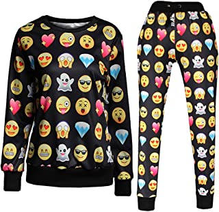 Emoji 3D Sweatpants Expression Joggers Pants Sweater Sweatshirt Sweatsuits