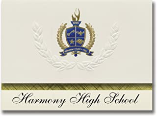 Signature Announcements Harmony High School (Harmony, FL) Graduation Announcements, Presidential style, Basic package of 2...