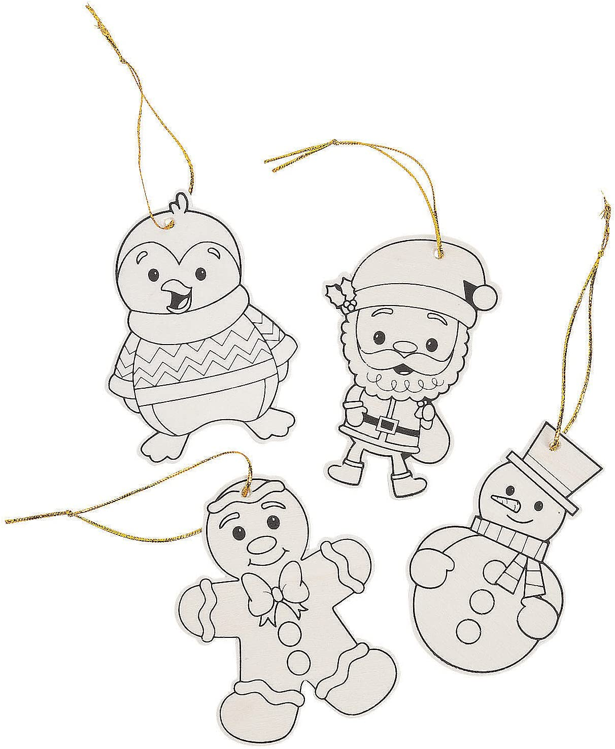 Color Some reservation Your Own Wood Christmas Char Spasm price Kids Crafts Ornaments - a for
